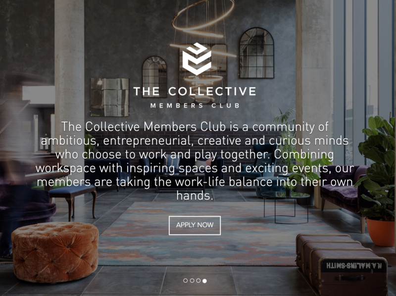 Co-working / Co-living / members club website design