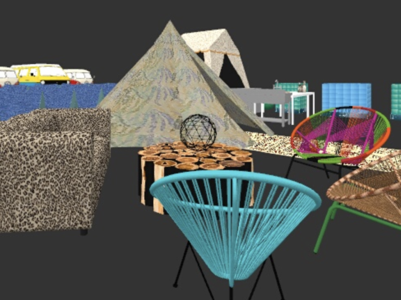 AfrikaBurn Dreamers Camp chill area 2020