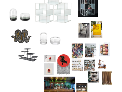 CBD Shop design moodboard