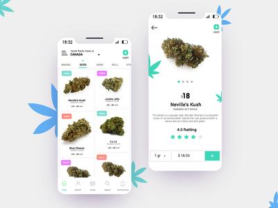 Cannabis App Ui