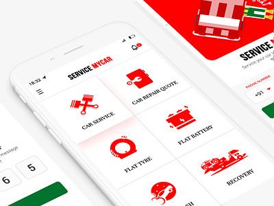 Car Service App UI car automobiles carservice illustration ios design app ux ui