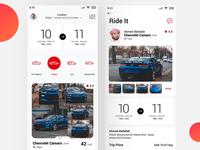Car rental App Ui