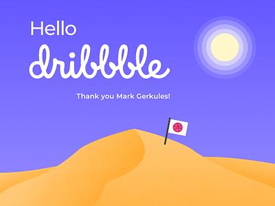 Hello Dribbble! figma ui illustration design