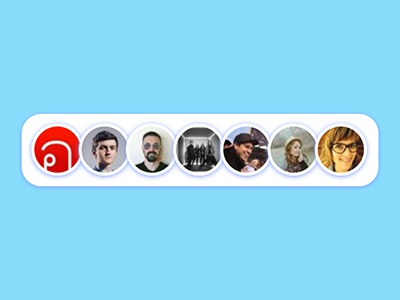 Social Media Avatars round ui face avatar codepen jquery css html