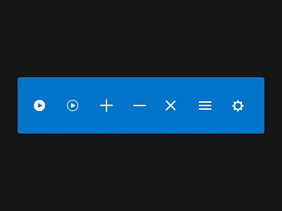 Media Player Icon Set illustrator photoshop player media flat icons