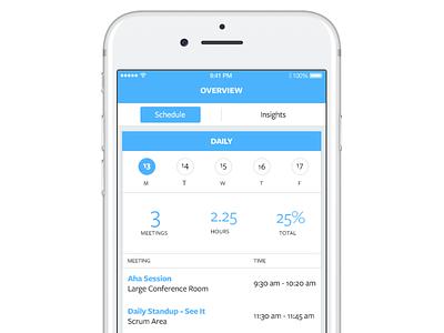 Meeting Tracking  App Promo statistics tracking meeting mobile ios app visual design