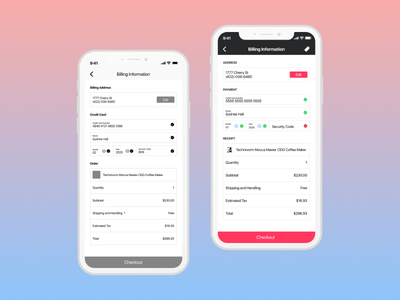 Daily UI 002 Credit Card Checkout Form shopping cart checkout ecommerce product design visual design wireframe figma ios dailyui