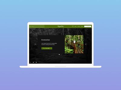 Daily UI 003 Landing Page logotype multimedia socialmedia searching navigation carousel dailyui