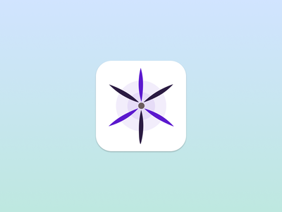 Daily UI 005 App Icon violet humanist organic minimal vector gradient icon app dailyui