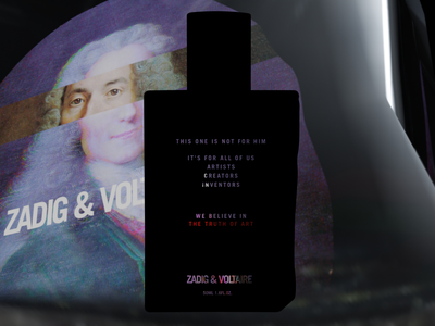 Zadig & Voltaire - This one is not for him bottle perfume campaign concept visual design product story branding