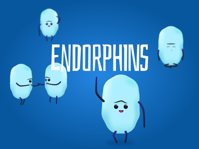Endorphins - Happiness Hormonie 02 campaign vector emotion personality science happiness visualisation character illustration