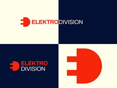 ELEKTRO DIVISION Logo electricity electrical graphic design negative space branding logo