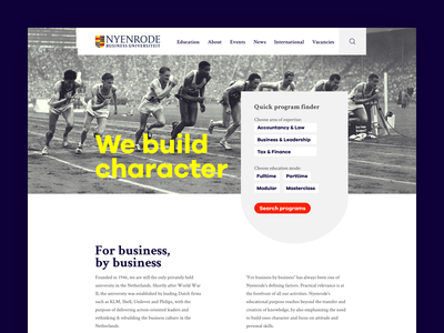 Business University website fresh historic modern education college nyenrode university business web