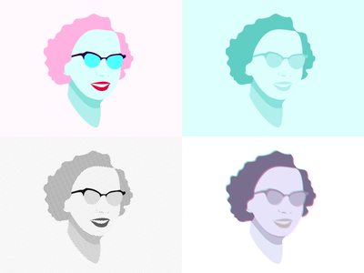 Sherley psychology experiment colors style illustration