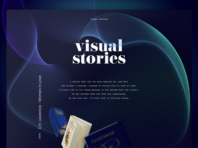 Visual Stories - A website for book lovers experience typography books storytelling story visual web ux ui