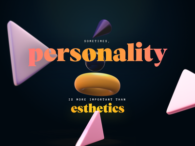 A lil bit of personality vesterbro shapes typography 3d quote