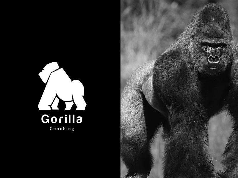 Animal logo Gorilla type app ui animation animal mark agency vector illustration ux icon visual typography monogram stationary identity brand logo design branding