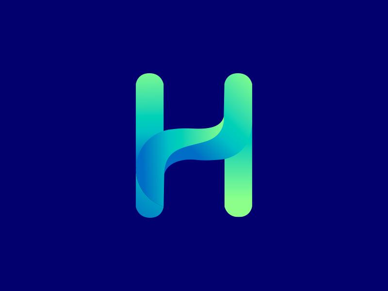 H Gradient logo logo2018 ux color app mark gradient agency icon construction colorful visual vector monogram typography illustration stationary identity brand logo branding