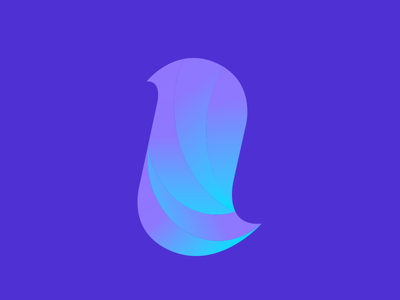I Gradient logo