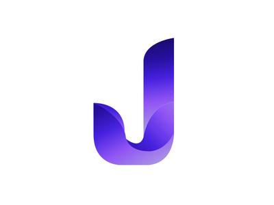 J Gradient logo stationery logo2018 color animal mark gradient agency vector construction colorful visual typography monogram illustration stationary logo identity brand design branding