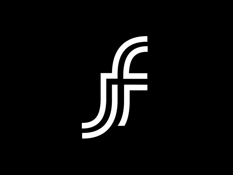 A monogram logo J + F stationery logo2018 animal icon mark gradient agency vector construction colorful visual typography monogram illustration stationary logo identity design brand branding