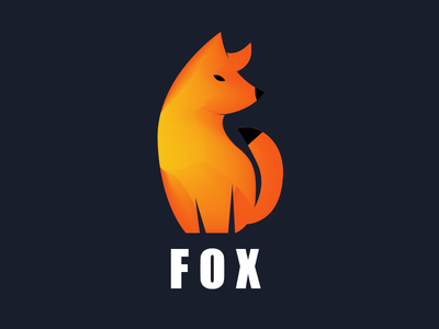 Animal logo Fox color app logo2018 animal mark gradient agency vector construction colorful visual typography monogram illustration stationary logo identity design brand branding