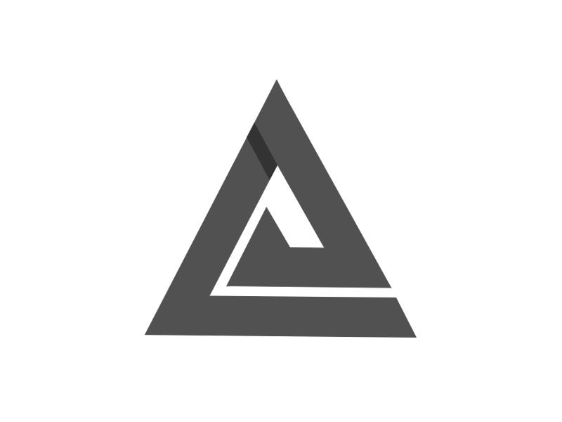 A monogram logo L + A app logo2018 logo visual icon animal mark gradient agency vector construction colorful typography monogram illustration stationary identity design brand branding