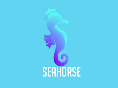 Animal logo Seahorse stationery color logo gradient logo2018 animal mark agency vector construction colorful visual typography monogram illustration stationary identity design brand branding