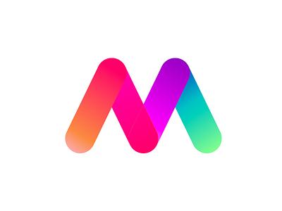 M Gradient logo mark color logo2018 animal icon gradient agency vector logo construction colorful visual typography monogram illustration stationary identity design brand branding