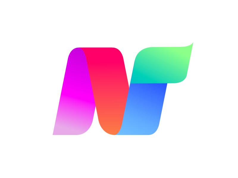 N Gradient logo website color web stationery icon vector gradient agency construction colorful visual typography monogram illustration stationary logo identity design brand branding