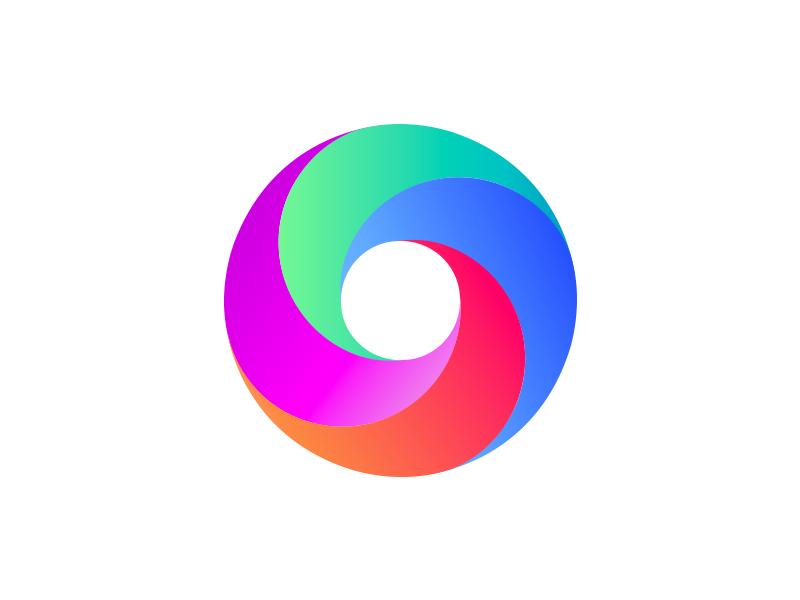 Gradient logo O website web logo stationery color animal mark gradient agency vector colorful visual typography monogram illustration stationary identity design brand branding