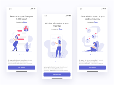 Patient Onboarding Pages