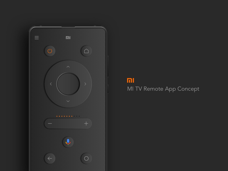 Mi TV Remote App Concept by Yashwanth Kumar N on Dribbble