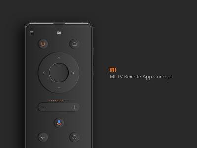 Mi TV Remote App Concept controllers ui design app branding controller xaiomi ios android remote smart tv smart tv mi