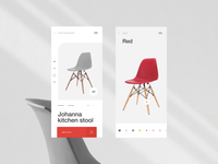 Product Card grid typography interface ux ui mobile app online store product card minimalism interaction fashion 3d customize catalog card app animation