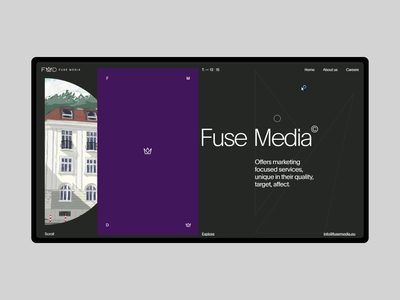 Fuse Media black webdesign interface design interaction marketing typogaphy minimalism grid motion design ux ui