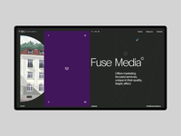 Fuse Media black webdesign interface design interaction marketing typogaphy minimalism grid motion design ux ui