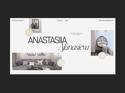 Anastasiia Afanasieva animation motion interior webdesign minimalism fashion grid typography obys ux ui