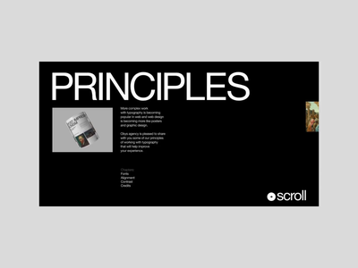 Typography Principles motion landing alignment contrast animation helvetica black minimalism interaction grid typography webdesign ux ui