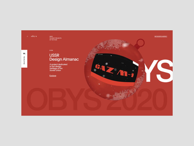 Year in review 2020 grid 2020 slider minimalism obys typography ux ui awwwards snow interaction animation new year