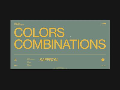 СС_Saffron fashion grid combinations storytelling education inspiration typography webdesign minimalism colors animation