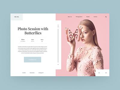 Photo Studio dope photo webdesign web ux ui fashion