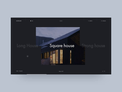 MODULAR muzli minimalism black interaction grid photo industrialdesign typography interface obys fashion webdesign ux ui