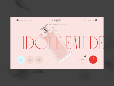 Lancôme Product Card smooth preloader slider pink online store product card e-commerce minimalism fashion grid typography ux ui motion animation webdesign