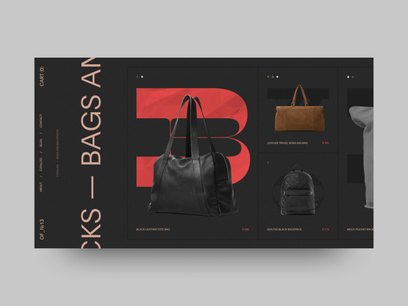 OF№_13 catalogue design online store catalog black concept minimalism fashion typography grid obys webdesign ux ui