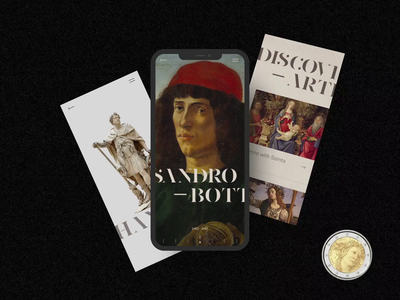 Sandro Botticelli Interaction art museum minimalism typography obys ux ui mobile webdesign
