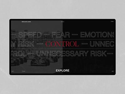 Niki Lauda parallax animation lauda race history black helvetica minimalism fashion typography grid obys webdesign ux ui