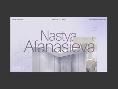 Nastya Afanasieva visual design interior industrial design pastel smooth minimalism interaction fashion grid typography obys webdesign ux ui animation