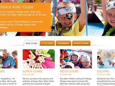 Product Page UI web design ui layout holidays travel