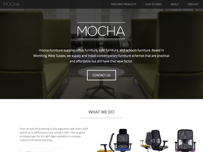 Mocha Furniture new site web design html5 css3